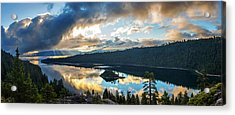 Acrylic Print featuring the photograph Emerald Bay Sunrise Rays by Brad Scott