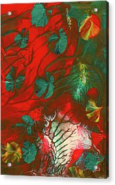 Emerald Butterfly Island Acrylic Print