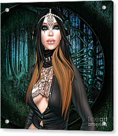 Emerald Cabachon Acrylic Print