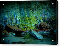 Emerald Cave Acrylic Print by Nature Macabre Photography