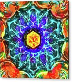 Emerald Circle Mandala Acrylic Print