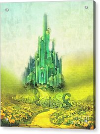 Emerald City Acrylic Print by Mo T