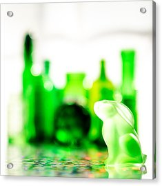 Emerald City V - Square Acrylic Print by Jon Woodhams
