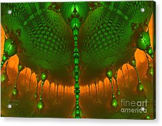 Emerald Dew Acrylic Print by Melissa Messick