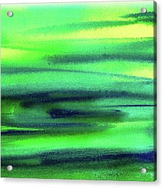 Emerald Flow Abstract Painting Acrylic Print