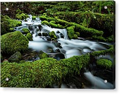 Emerald Flow Acrylic Print by Edgars Erglis