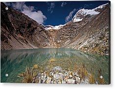 Emerald Mountain Lake Acrylic Print