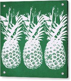 Emerald Pineapples- Art By Linda Woods Acrylic Print
