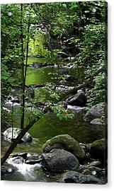 Emerald Pools Acrylic Print by Jim Nelson