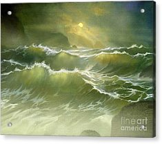 Emerald Sea Acrylic Print by Robert Foster