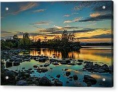 Emerald Sky Reflection Acrylic Print
