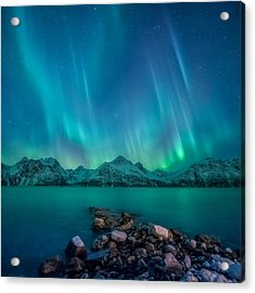 Emerald Sky Acrylic Print by Tor-Ivar Naess