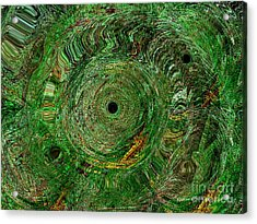 Acrylic Print featuring the photograph Emerald Swirls by Kathie Chicoine