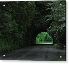 Emerald Tunnel Acrylic Print by Robert Clayton