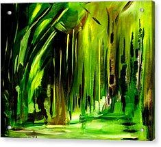 Emerald Vision Acrylic Print by Ellen Seymour