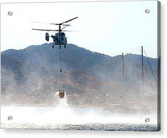 Emergency Helicopter Acrylic Print by Svetlana Sewell