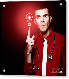 Emergency Room Doctor Signalling Red Alert Crisis Acrylic Print