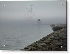 Acrylic Print featuring the photograph Emerging From The Fog by Jeff Folger
