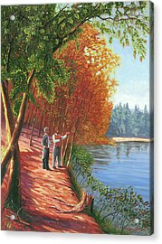 Emerson And Thoreau At Walden Pond Acrylic Print