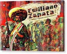 Emiliano Zapata Inmortal Acrylic Print