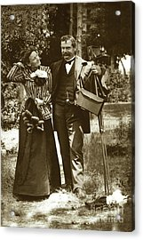Emily Tuttle And Her Husband C. K. Tuttle With His 4x5 Camera 1900 Acrylic Print