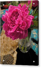 Acrylic Print featuring the photograph Emily's Peonies  by Kate Word