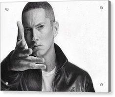 Eminem Acrylic Print by Nat Morley