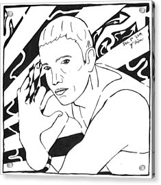 Eminemaze Acrylic Print by Yonatan Frimer Maze Artist
