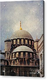 Eminonu New Mosque Acrylic Print by Mohamed Elkhamisy