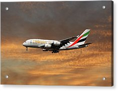 Emirates Airbus A380-861 3 Acrylic Print