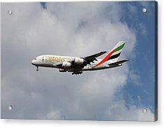 Emirates Airbus A380-861 5 Acrylic Print