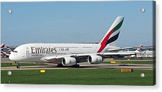 Emirates Airline Airbus A380-800 Acrylic Print