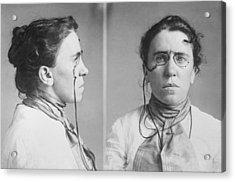 Emma Goldman 1869-1940 Mugshots. She Acrylic Print by Everett