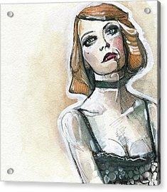 Emma In Choker Acrylic Print