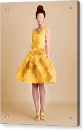 Acrylic Print featuring the digital art Emma by Nancy Levan