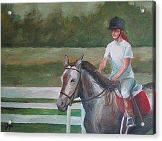 Emma Riding Acrylic Print by Julie Dalton Gourgues