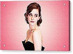 Emma Watson Acrylic Print by Iguanna Espinosa