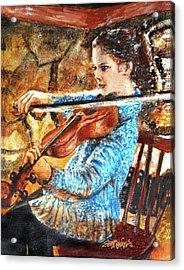 Emma's Violin Acrylic Print