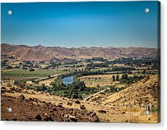 Emmet Valley From Cherry Gulch Acrylic Print