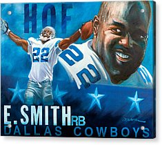 Emmit Smith Hof Acrylic Print by Jim Wetherington