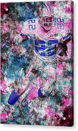 Acrylic Print featuring the photograph Emmitt Smith Nfl Football Painting Digital  Es22 One by David Haskett
