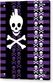 Emo Punk Skull Acrylic Print by Roseanne Jones