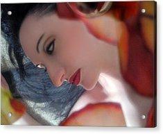 Emotional Free Fall - Self Portrait Acrylic Print by Jaeda DeWalt