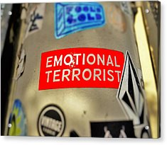 Emotional Terrorist In New York  Acrylic Print by Funkpix Photo Hunter