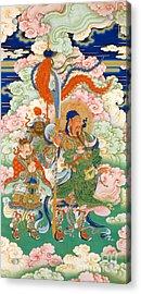 Emperor Guan, Hanging Scroll Acrylic Print