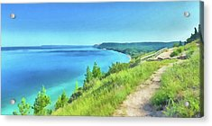 Acrylic Print featuring the digital art Empire Bluffs  by Digital Photographic Arts