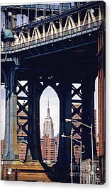 Empire Framed Acrylic Print by Joan McCool