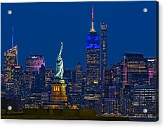 Acrylic Print featuring the photograph Empire State And Statue Of Liberty II by Susan Candelario