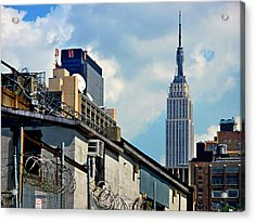 Empire State Building - A Different View Acrylic Print by JoAnn Lense