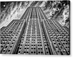 Empire State Building Black And White Acrylic Print